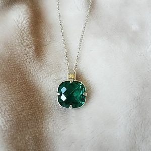 Brighton Lovable Collection Green Crystal Necklace